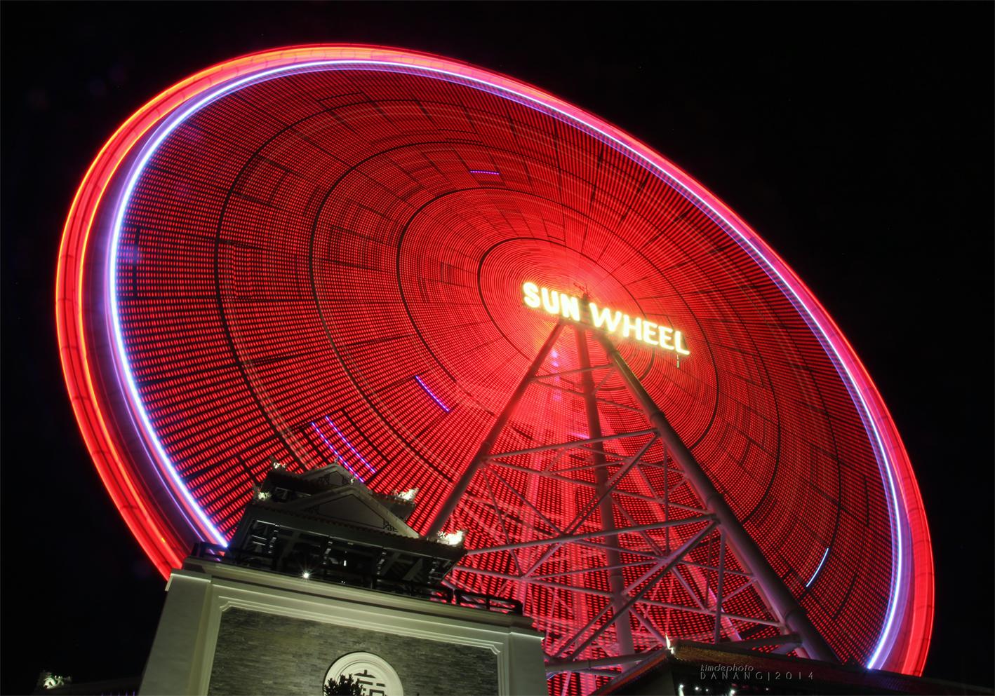 Đu quay Sun Wheel Đà Nẵng - Kĩ thuật phơi sáng đêm cho người mới