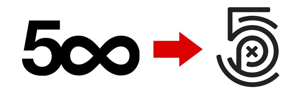 Thay đổi logo 500px