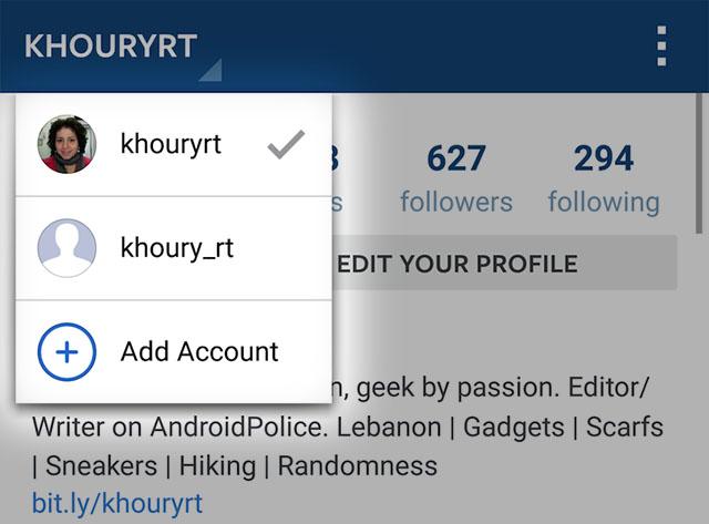Instagram chuẩn bị cho dùng nhiều tài khoản trên một thiết bị | 50mm Vietnam