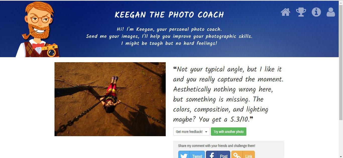 Keegan đánh giá kết quả ảnh Canon Photo Marathon