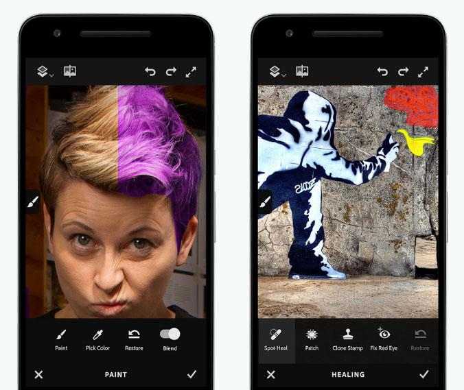 Adobe Photoshop Fix cập bến điện thoại Android | 50mm Vietnam