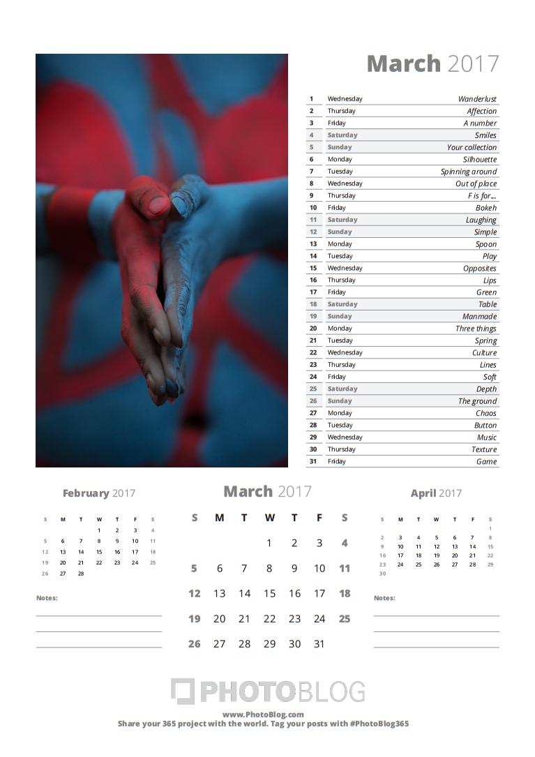 Bộ lịch giúp bạn vượt qua 365 Days Photo Challenge | 50mm Vietnam Official Site