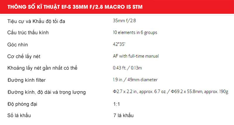 Canon trình làng ống kính EF-S 35mm f/2.8 Macro IS STM   50mm Vietnam