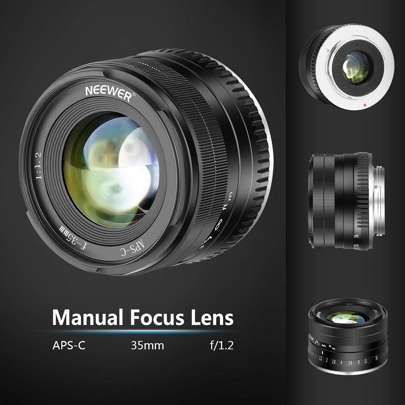 Neewer ra mắt ống kính 35mm f/1.2 cho Sony và Fuji | 50mm Vietnam