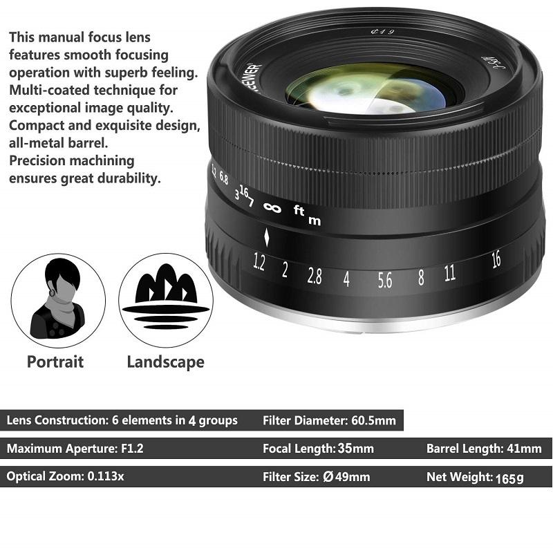 Neewer ra mắt ống kính 35mm f/1.2 cho Sony và Fuji   50mm Vietnam