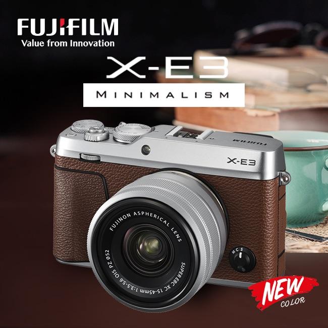 Fujifilm X-E3 có thêm phiên bản màu nâu! | 50mm Vietnam