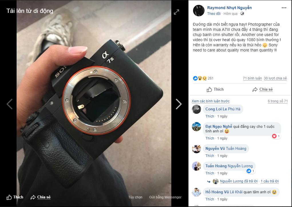 Nghi vấn: Sony Alpha A7 III bị lỗi nghiêm trọng về màn trập cơ học?   50mm Vietnam