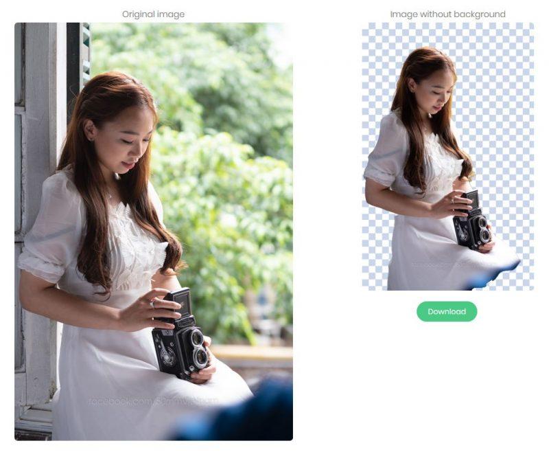 Tách mẫu khỏi phông nền chỉ 5 giây với Remove.bg | 50mm Vietnam