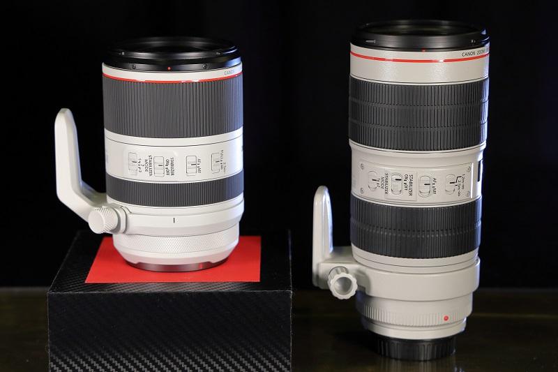 So sánh 2 ống kính 70-200, phiên bản RF và EF   50mm Vietnam